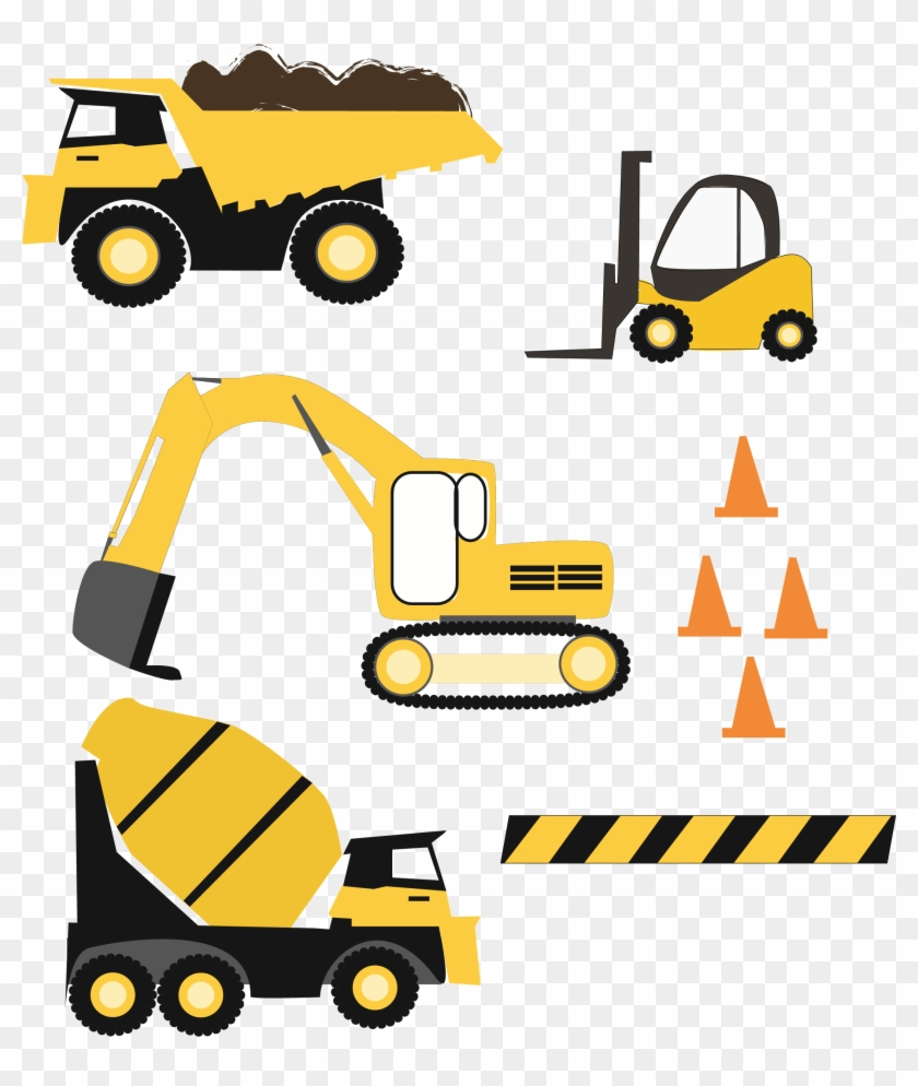 Construction Trucks Svg Files Example Image - Construction #392022