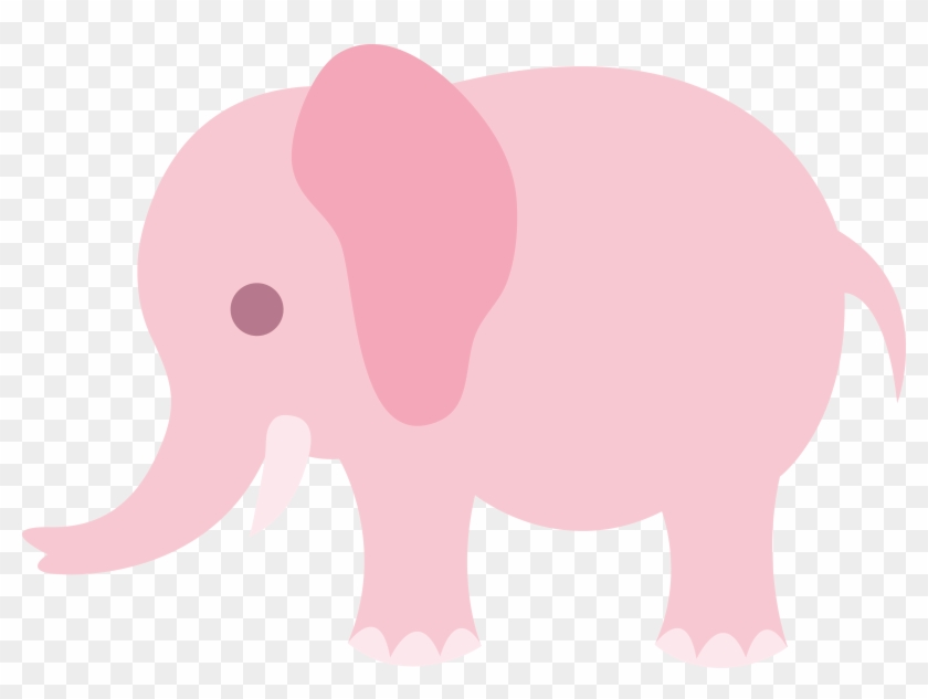 Cartoon Elephant Pictures - Cute Pink Elephant Clipart #392474