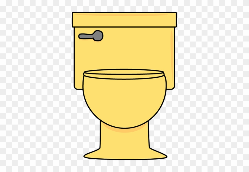 Yellow Toilet - Clipart Bathroom Toilet #392523