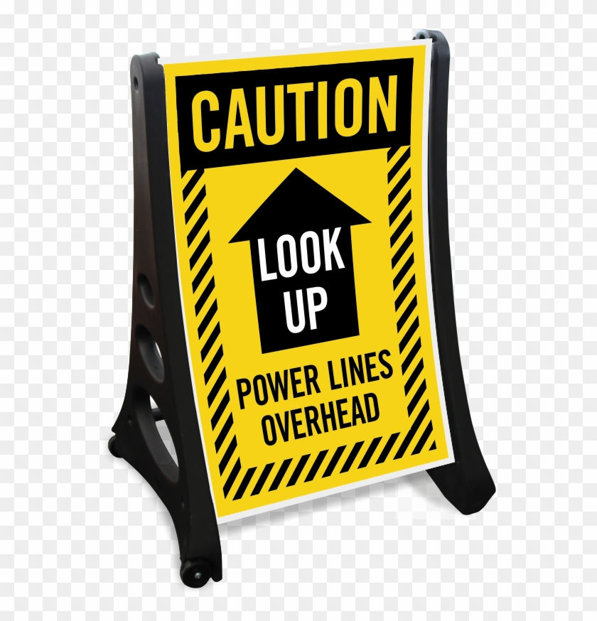Danger Overhead Electrical Power Lines Sign Legal Signs - Under Construction Signs #392548