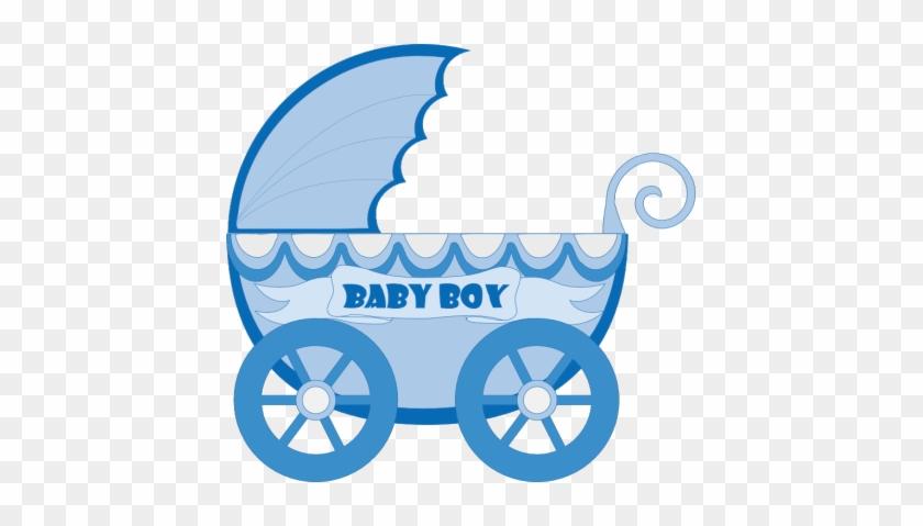 Kartki Free Ideas - Baby Stroller Clipart Blue #392765
