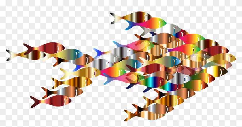 Colorful Fish Fractal - Colorful Fish Png #393101