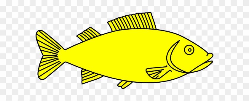 Fish Clip Art At Clkercom Vector Online - Outline Of Fish #393121