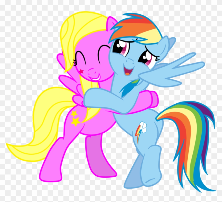 [request] Oc Shooting Star Hugging Rainbow Dash By - Shooting Star Cutie Mark #393168