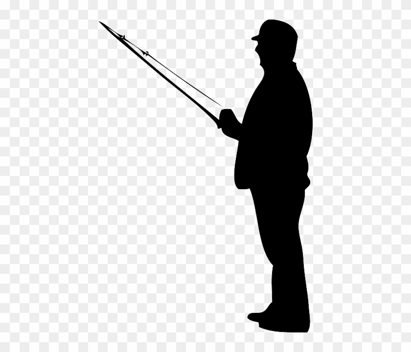 Fishing Rod Clipart Stick Man Fisherman Silhouette Free Transparent Png Clipart Images Download