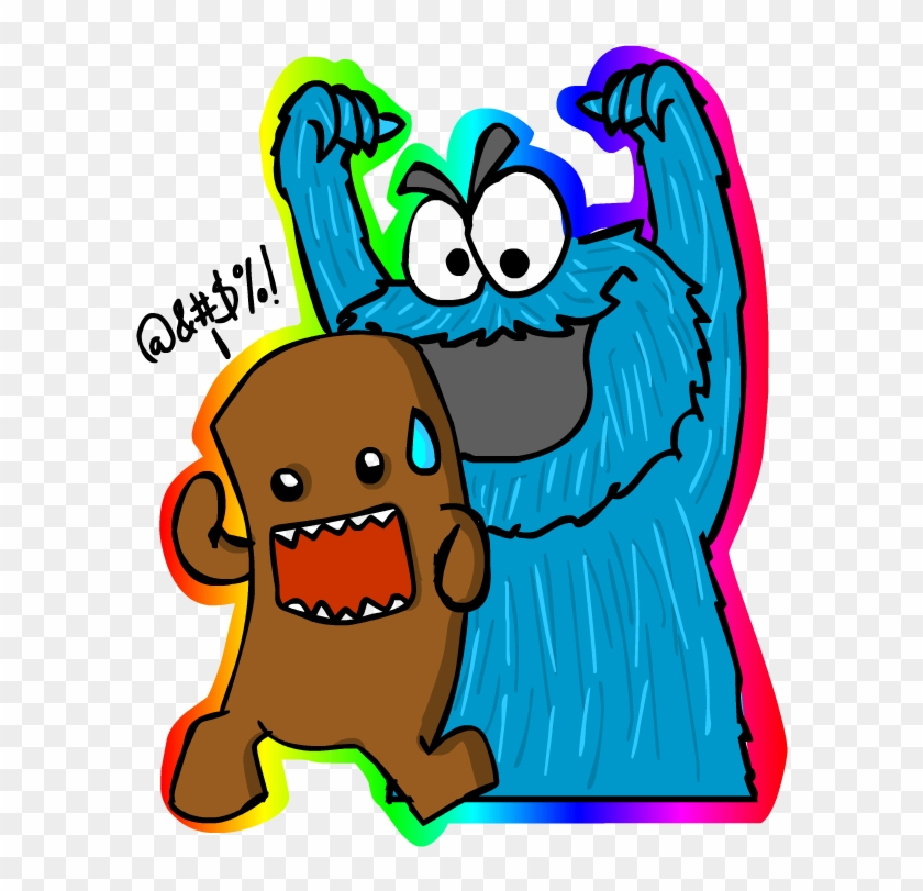 cookie monster and domo by lil juan domo and cookie monster free