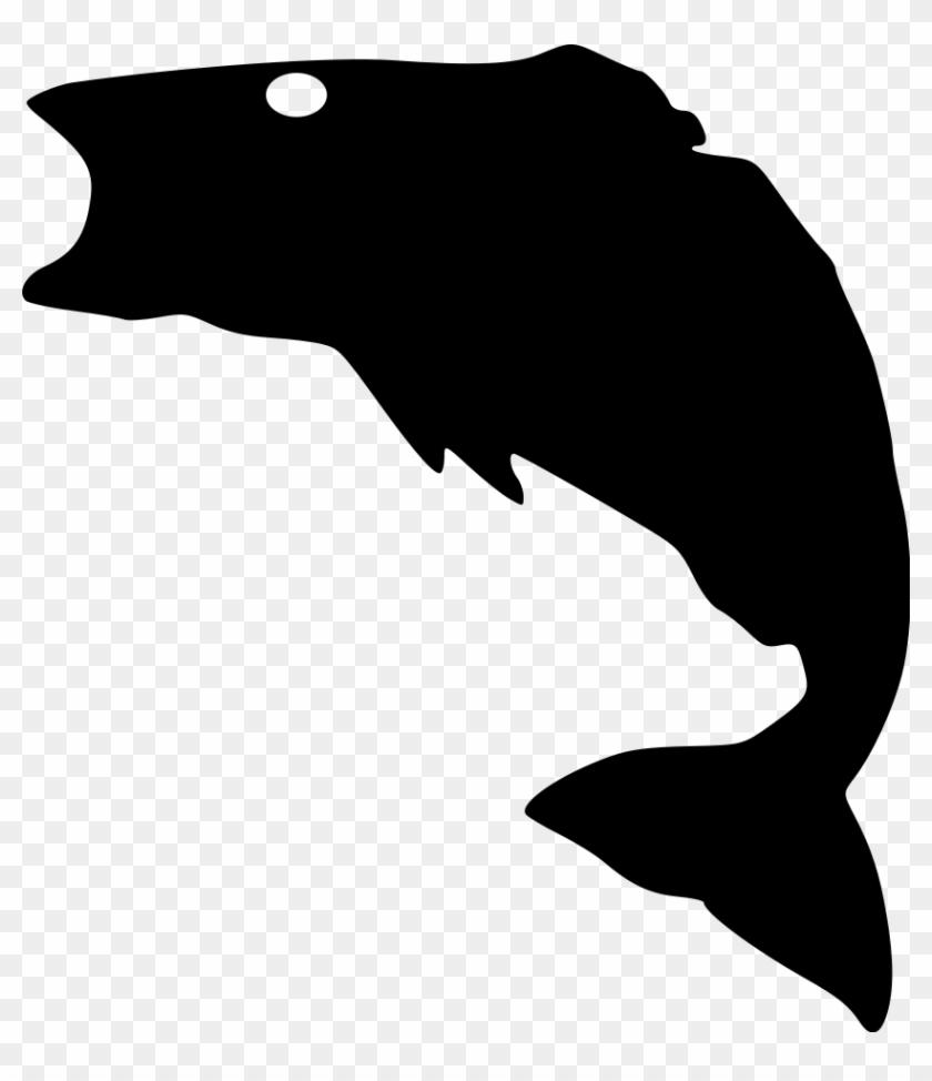 Bass-fish File Size - Bass Fish Silhouette #393583