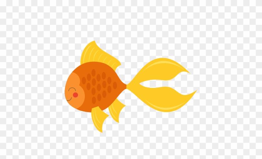 Cute Goldfish Svg Cut File For Cricuts Svg Scrapbook - Cute Goldfish Clipart #393895
