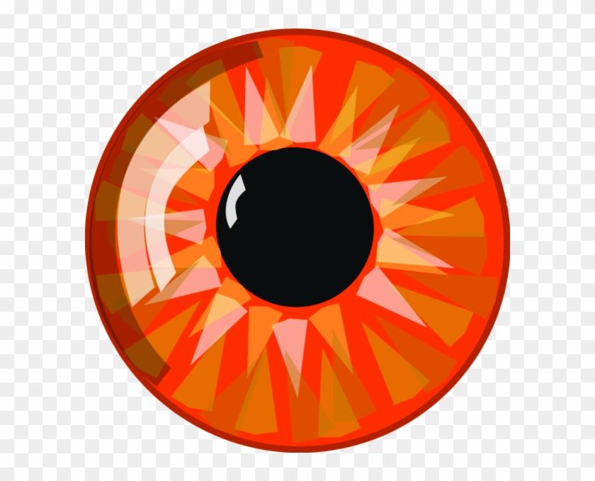 Orange Eye Clip Art Gallery - Orange Eyeballs Clip Art #394507