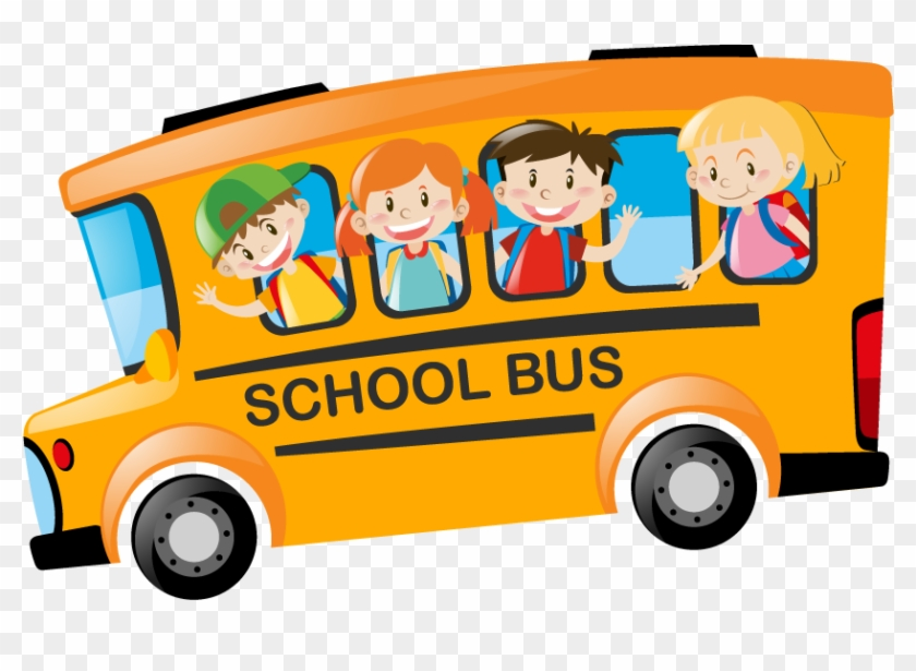 About Image About Image - Children Riding On School Bus In Morning Illustration #394659