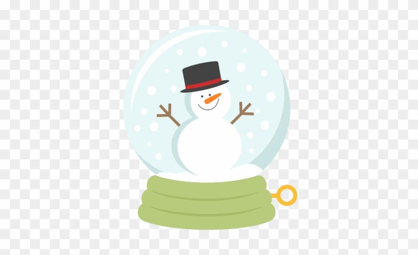 Snowman Snow Globe Svg Scrapbook Title Winter Svg Cut - Snowman Snow Globe Clipart #394943
