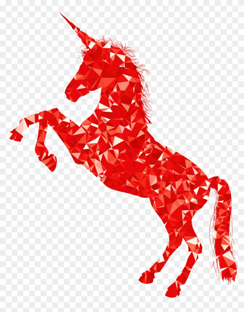 This Free Icons Png Design Of Ruby Unicorn Silhouette - Red