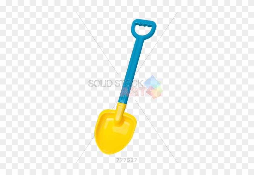 Stock Photo Of Blue And Yellow Toy Beach Shovel Isolated - Shovel Illustration Transparent Bg #395418