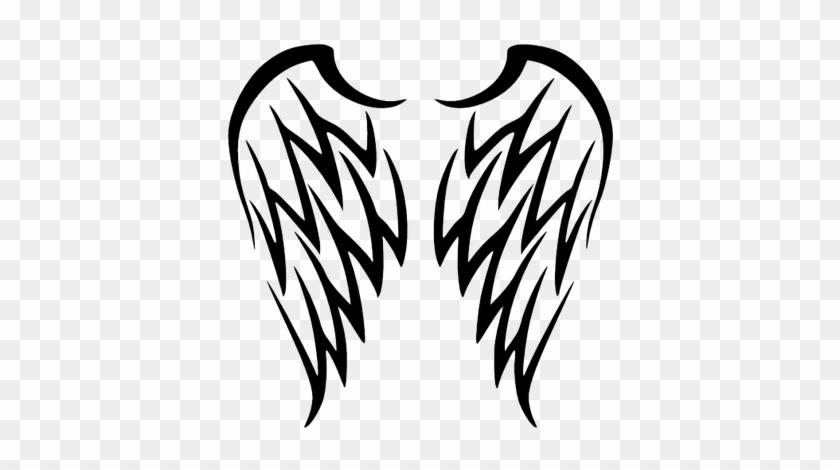 Wing Tattoo Simple - Angel Wings Tattoo Tribal #395788
