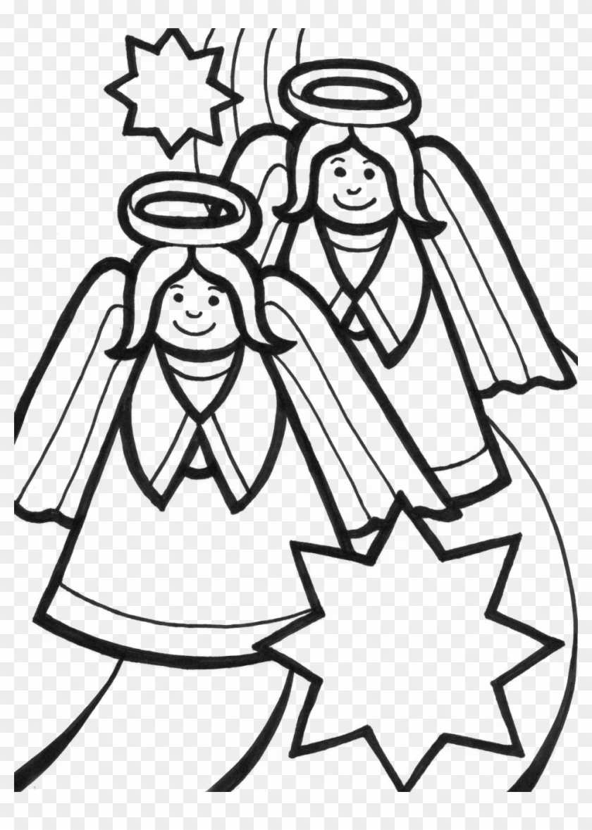 Free Coloring Pages Angels - Coloring Sheets Christmas Angel - Free ...