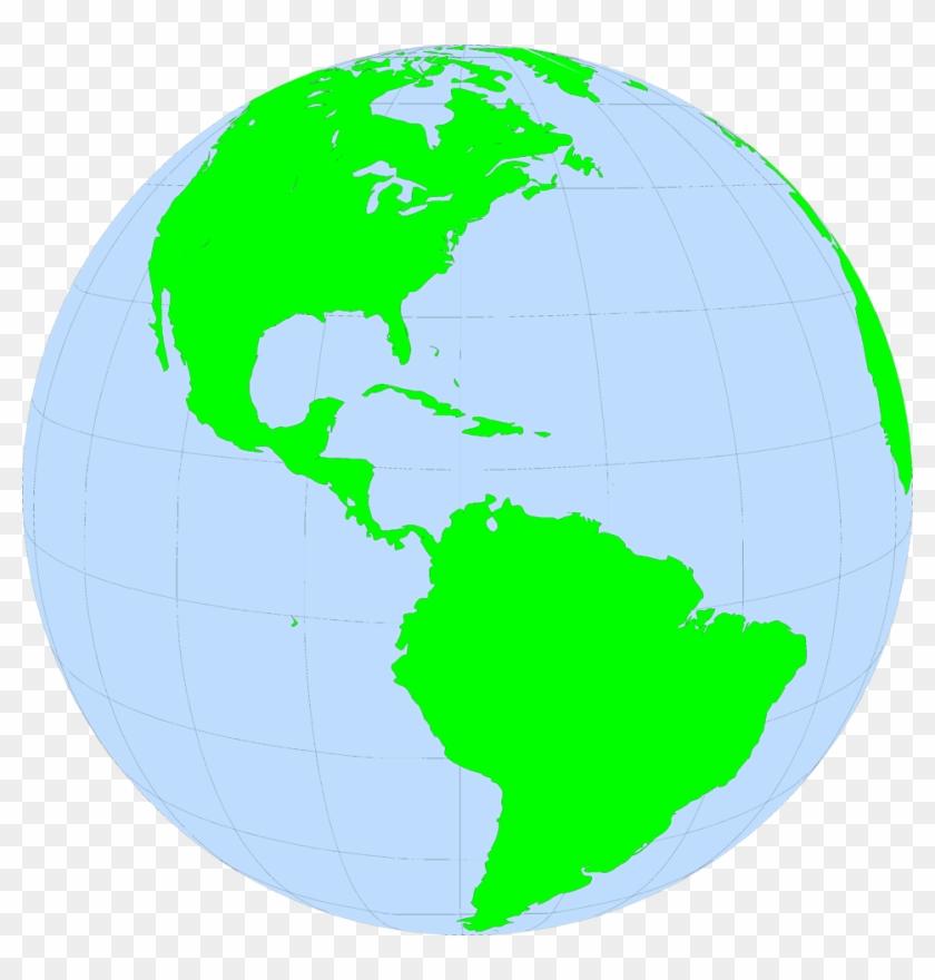 North South America Global World - North America On The Globe #395996