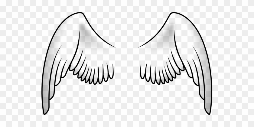 Black And White Angel Wings Transparent Background Free Download