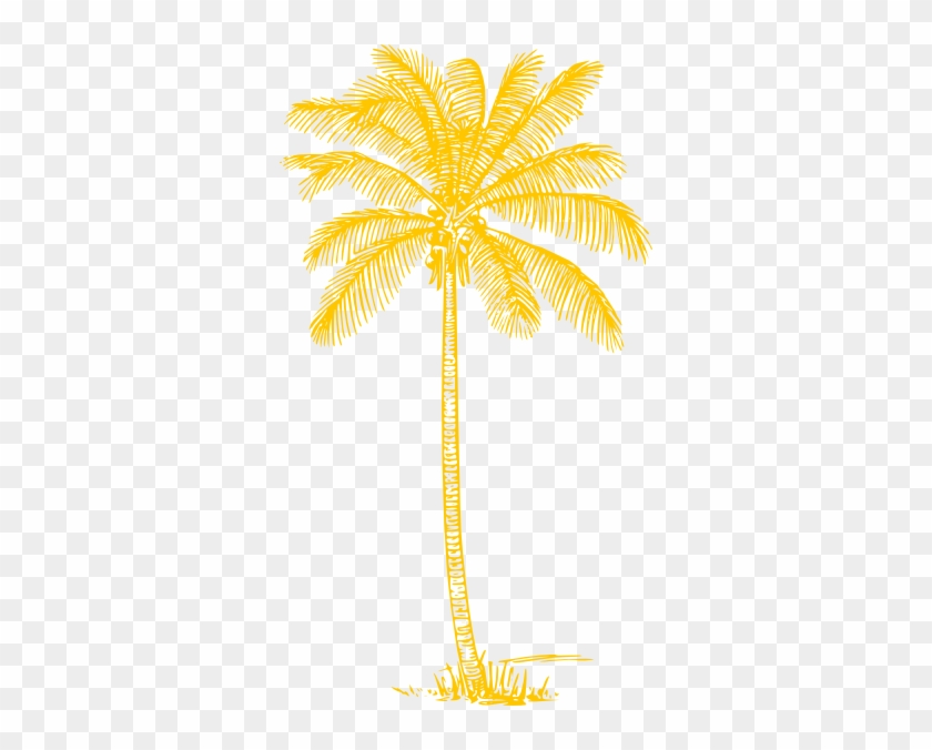 Yellow Palm Tree Clip Art Coconut Tree Clipart Black And White