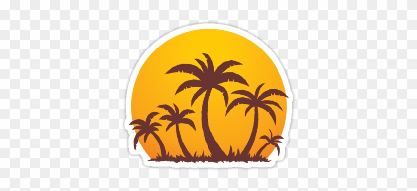 Palm Tree Sun Clipart #396897