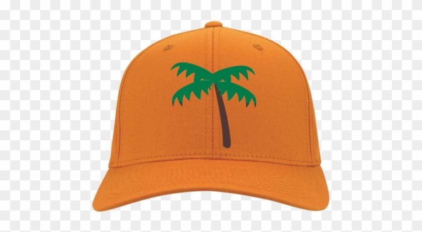 Palm Tree Emoji Port Authority Flex Fit Twill Baseball - Palm Tree Emoji Cp86 Port & Co. Five Panel Twill #396955