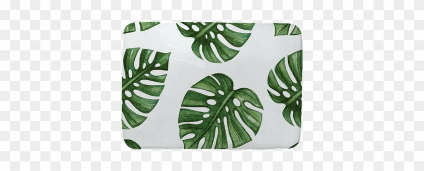 Watercolor Tropical Palm Leaves Seamless Pattern - Palm Leaf Wrapping Paper #397129
