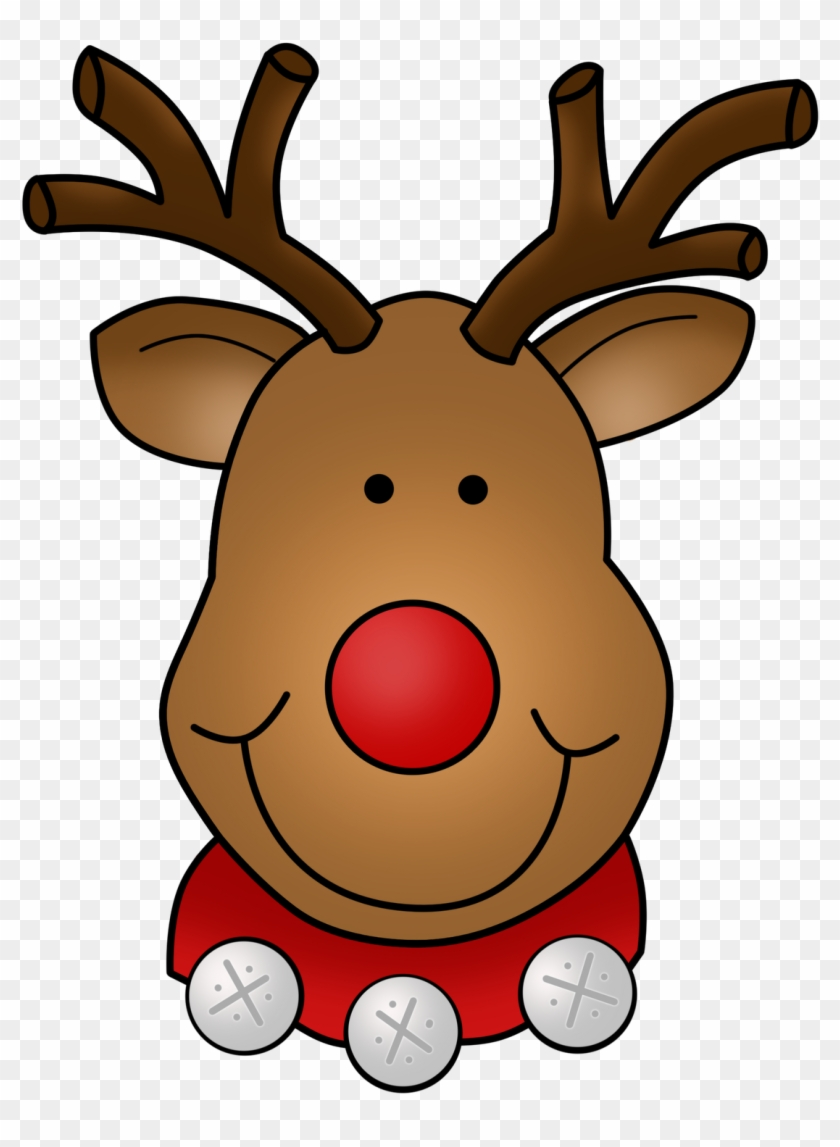 """""""dots"""" Of Fun Clip Art - Rudolph The Red Nosed Reindeer Face #397473"""