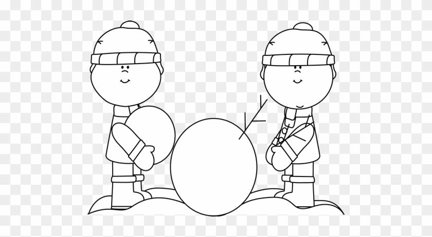 Transparent Snowman Clipart For Kids - Building A Snowman Clipart , Free  Transparent Clipart - ClipartKey