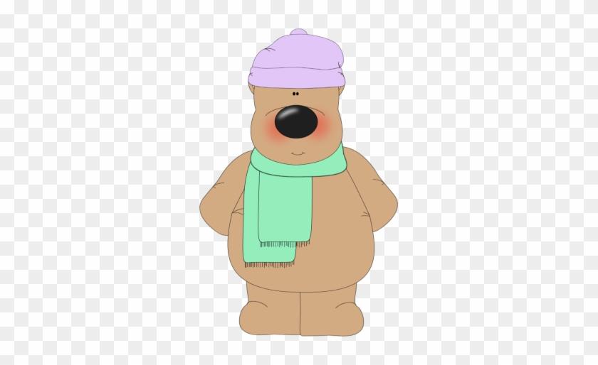 Winter Bear - Free Cute Winter Sledding Clip Art #397611
