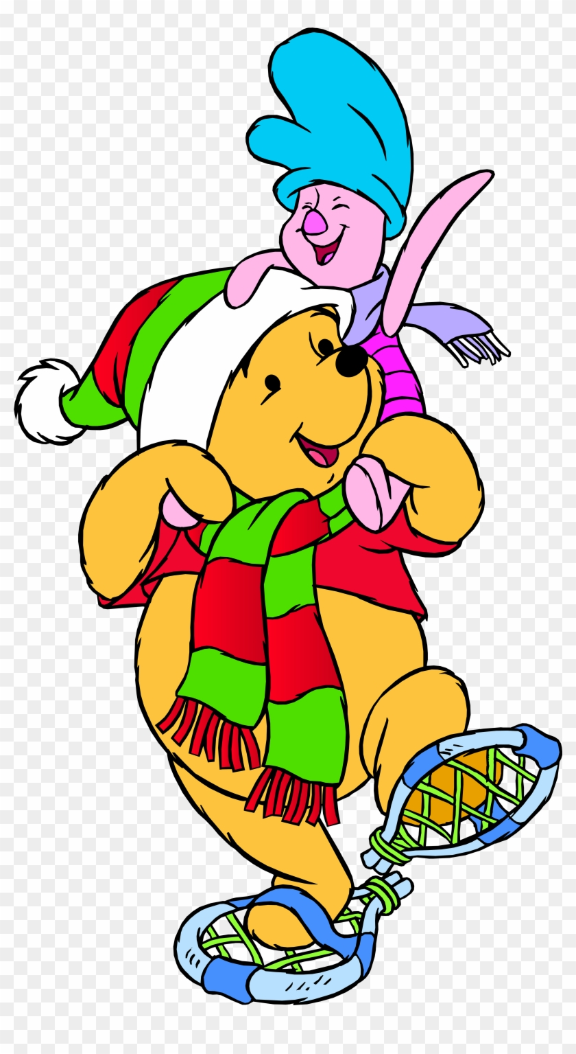 Winnie The Pooh And Piglet Winter Png Clip Art - Winnie The Pooh Winter #397672