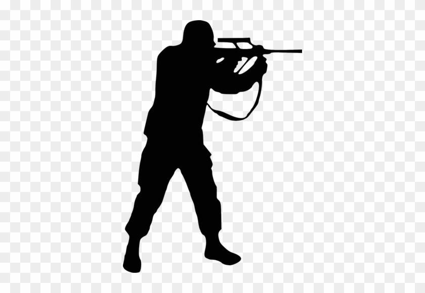 Http - //www - Fussballwetten - Info/counter Strike - Soldier Silhouette Army Png #397795