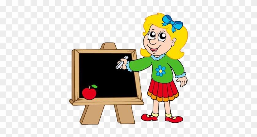 Gify Nena - Škola Str - - Girl Writing Clipart #398023