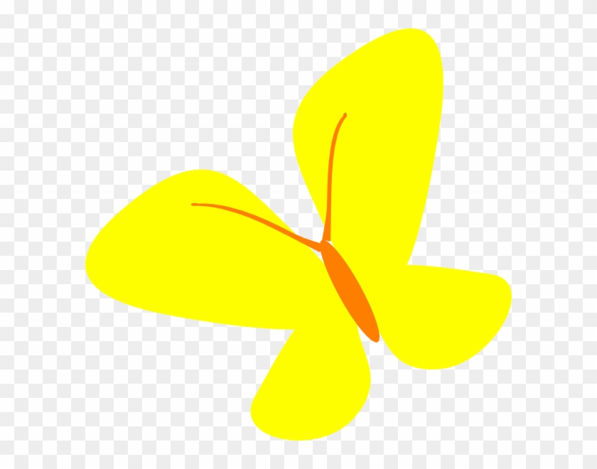 Yellow Butterfly Png - Clipart Butterfly Yellow Png #398356