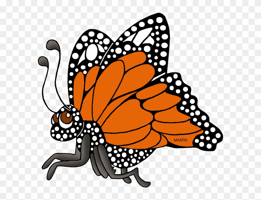 Free Clip Art By Phillip Martin - Clipart Animal Butterfly Cute #399024