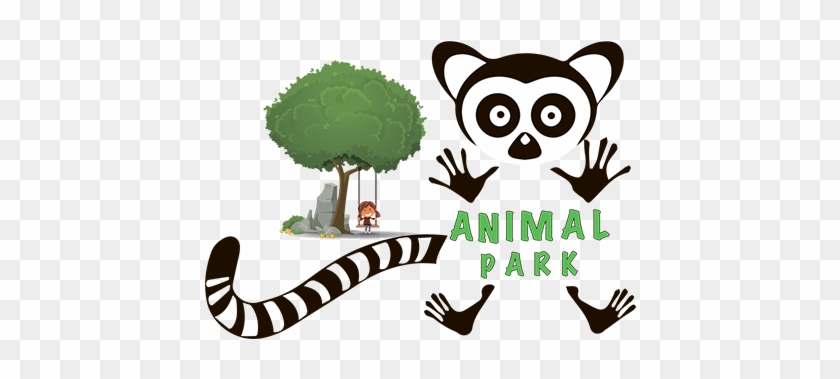Animal Park Contact Zoo - Orange And Orchid Animal Cartoon Wall Sticker #399100
