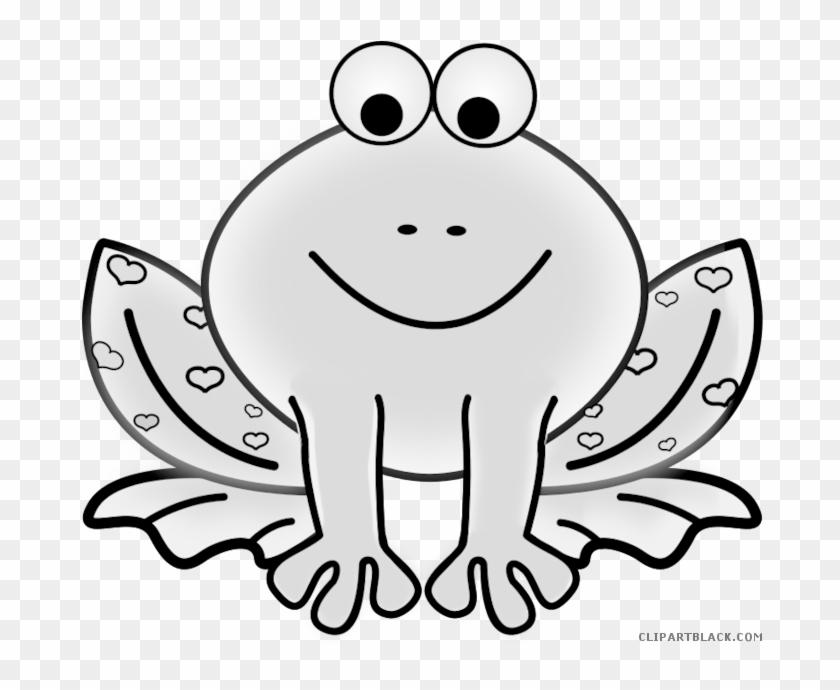Cute Frog Animal Free Black White Clipart Images Clipartblack - Orange Frog Clip Art #399164