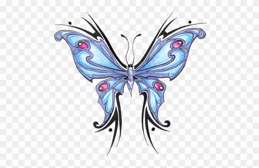 Butterfly Tattoo Designs Blue Png Pic 2 - Butterfly Tattoo Designs Png #399275