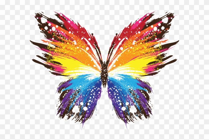 Papillon Clipart Rainbow Butterfly Colorful Wallpaper For Laptop Free Transparent Png Clipart Images Download