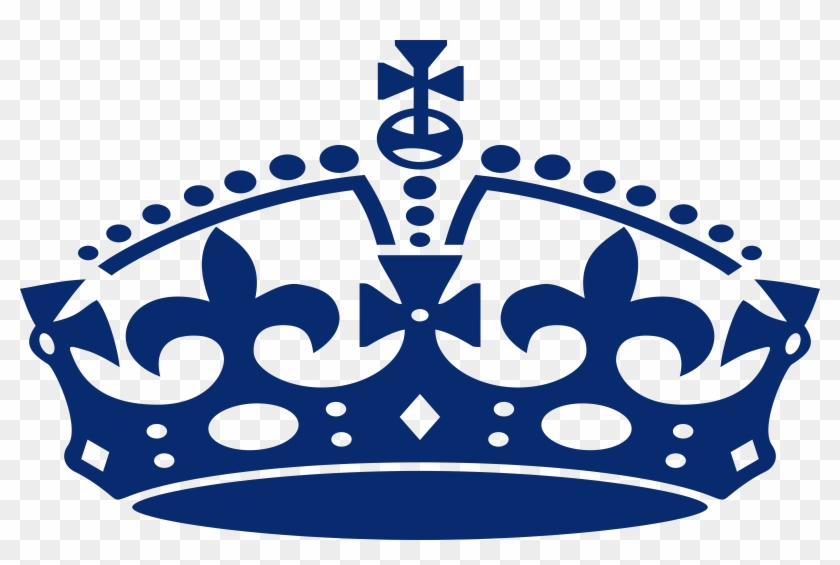 King Crown Blue Clipart Free Clipart Image - Keep Calm And Carry #399682