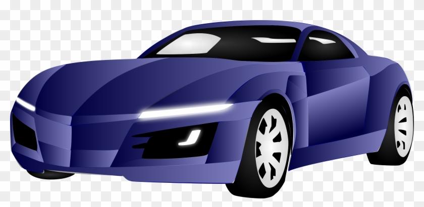 Police Officer Car Cartoon For Kids - Blue Sports Car Clipart #400100