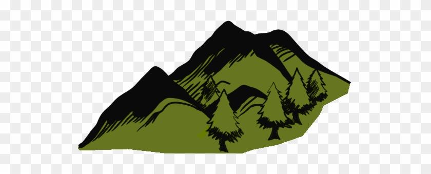 1e World Style Icons Hexographer - Green Mountain Clip Art