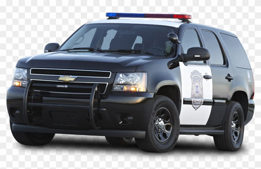 Black Chevy Tahoe Police Suv Ppv Car - Police Car Transparent Background #400885