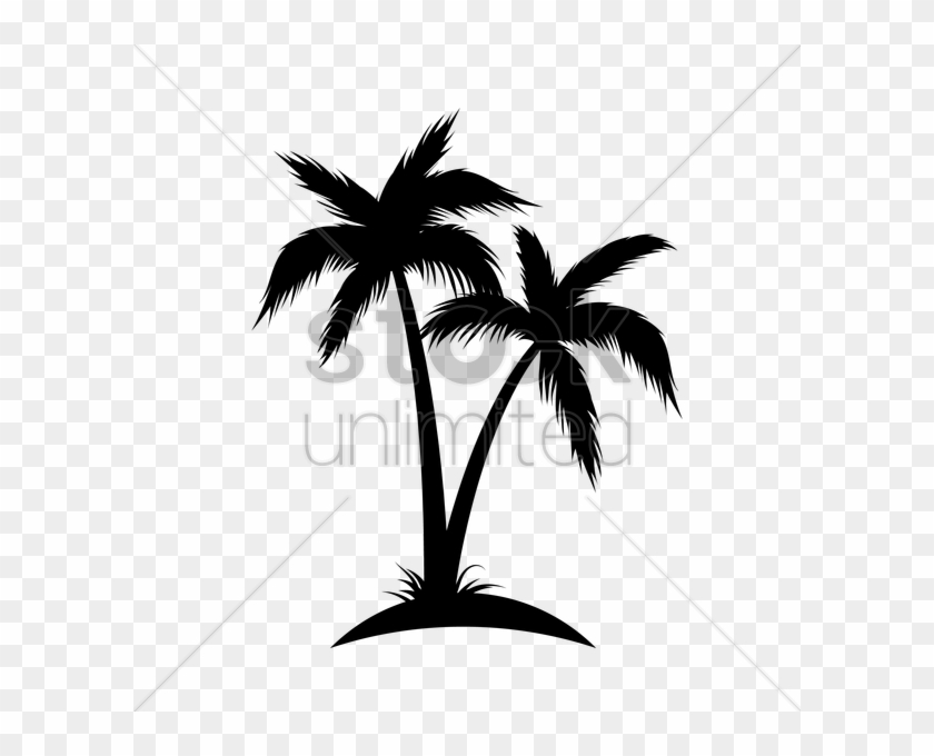 Silhouette Of Coconut Tree Vector Image Coconut Tree Silhouette