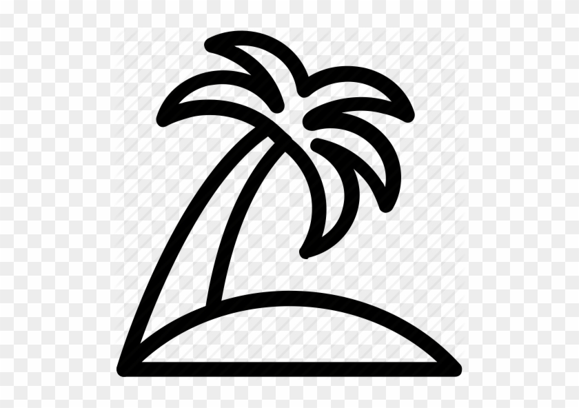 Arecaceae, Beach Tree, Coconut Tree, Palm, Palm Tree - Palm Tree Icon White #401382