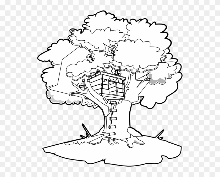 Peaceful Design Ideas Treehouse Coloring Pages Magic Magic Tree