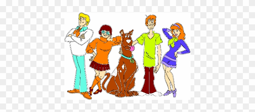 There Is 31 Scooby Snacks Free Cliparts All Used For - Hanna Barbera - Mystery Gang Model Sheet Hand Painted #401525