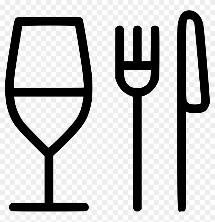 Glass Fork Knife Restaurant Food Comments Food And Drink Icon