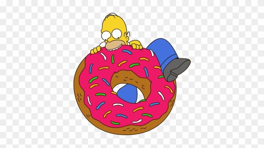 Картинка пончика из симпсонов