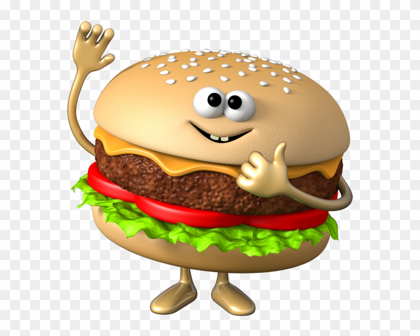 Hamburger Veggie Burger Fast Food Hot Dog Clip Art - Transparent Background Cute Hamburger Clipart #401765