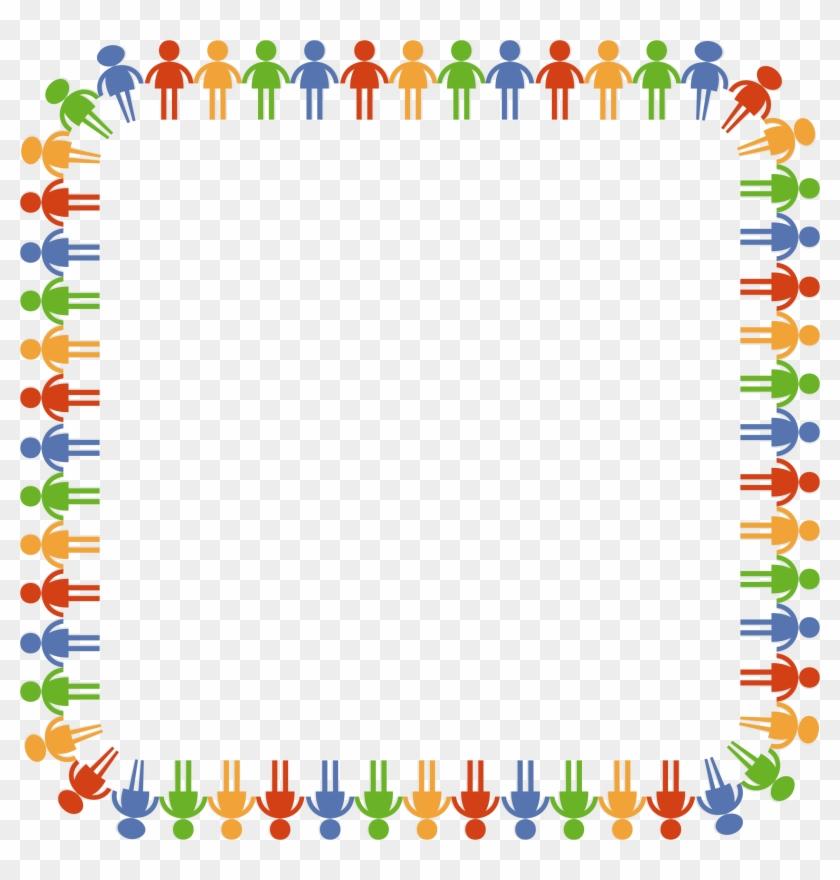 Clipart - Flower Frame Border Hd #401775