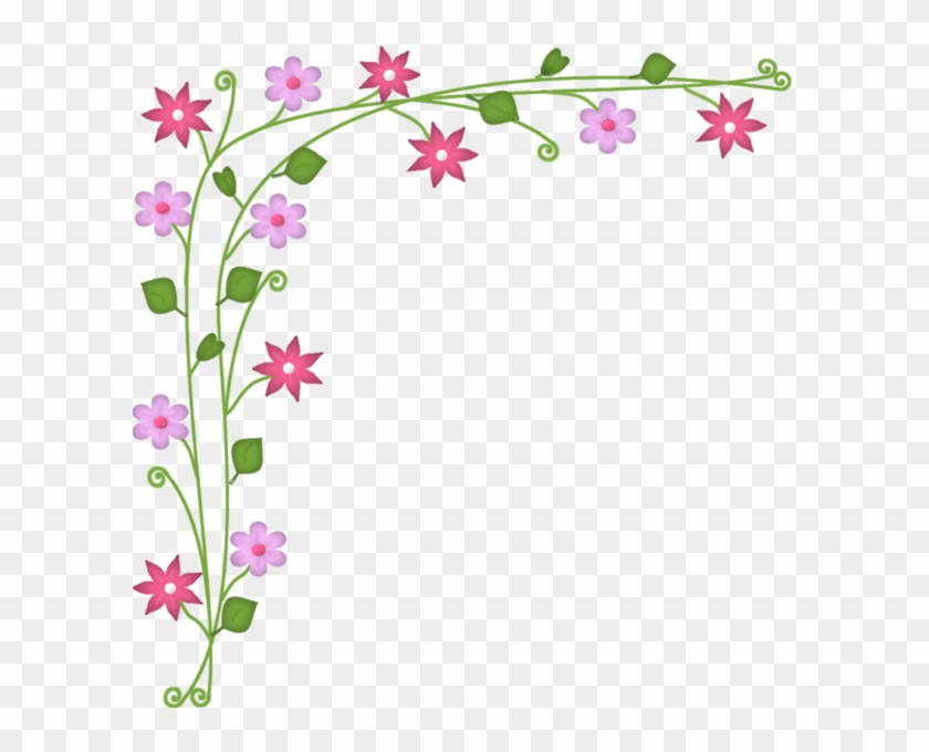 Small Flowers, Art Flowers, Flower Borders, Art Frames, - Esquineros ...